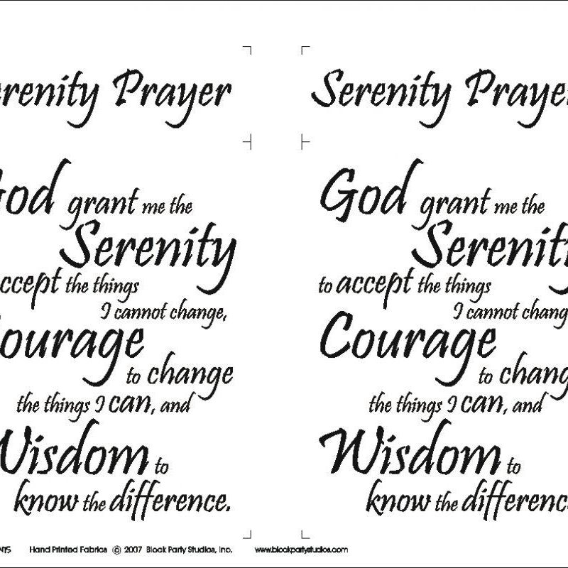 10 New Images Of Serenity Prayer FULL HD 1080p For PC Background 2020 free download serenity prayer fabric panelblock party studios 645bw 800x800