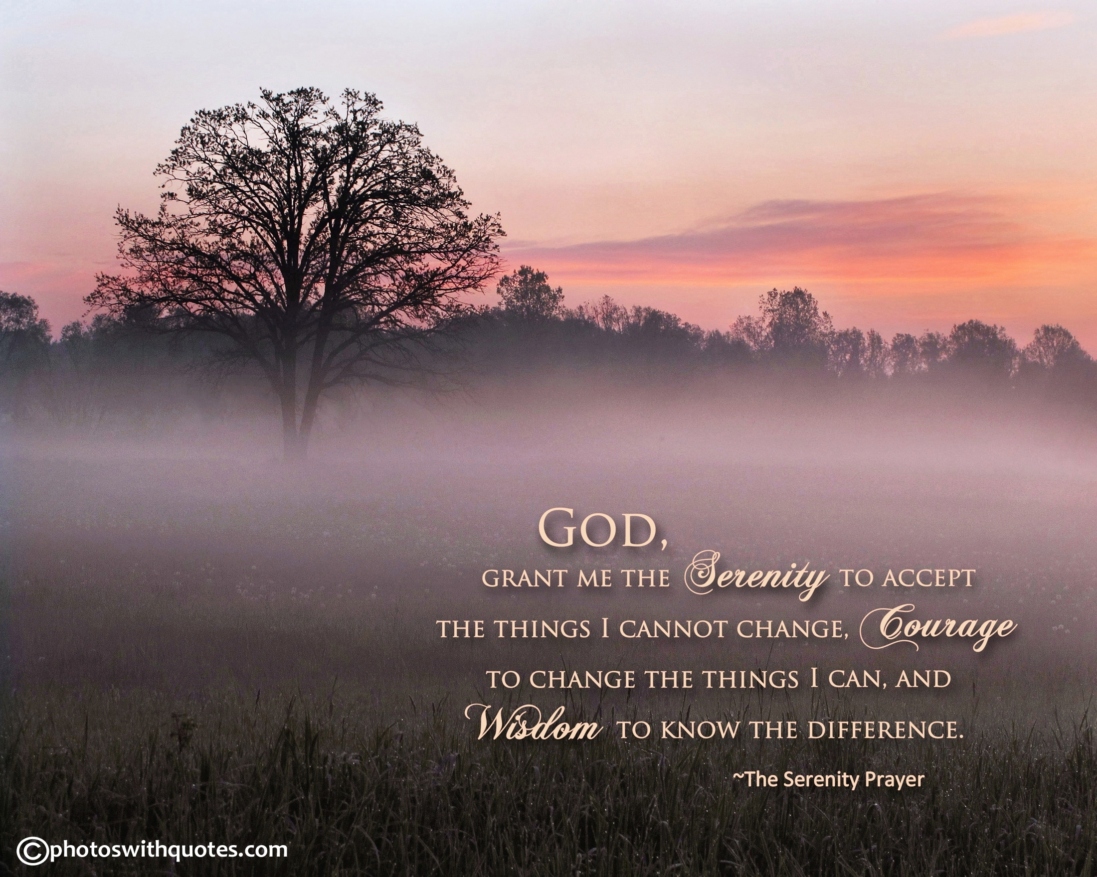serenity prayer - free print and wallpaper