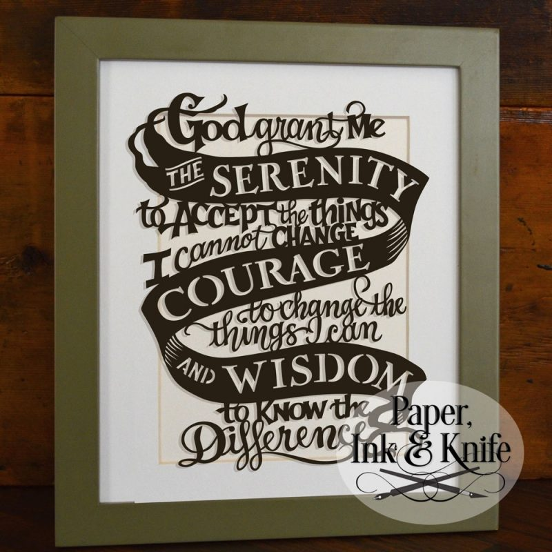 10 New Images Of Serenity Prayer FULL HD 1080p For PC Background 2020 free download serenity prayer papercut template paper ink and knife 800x800