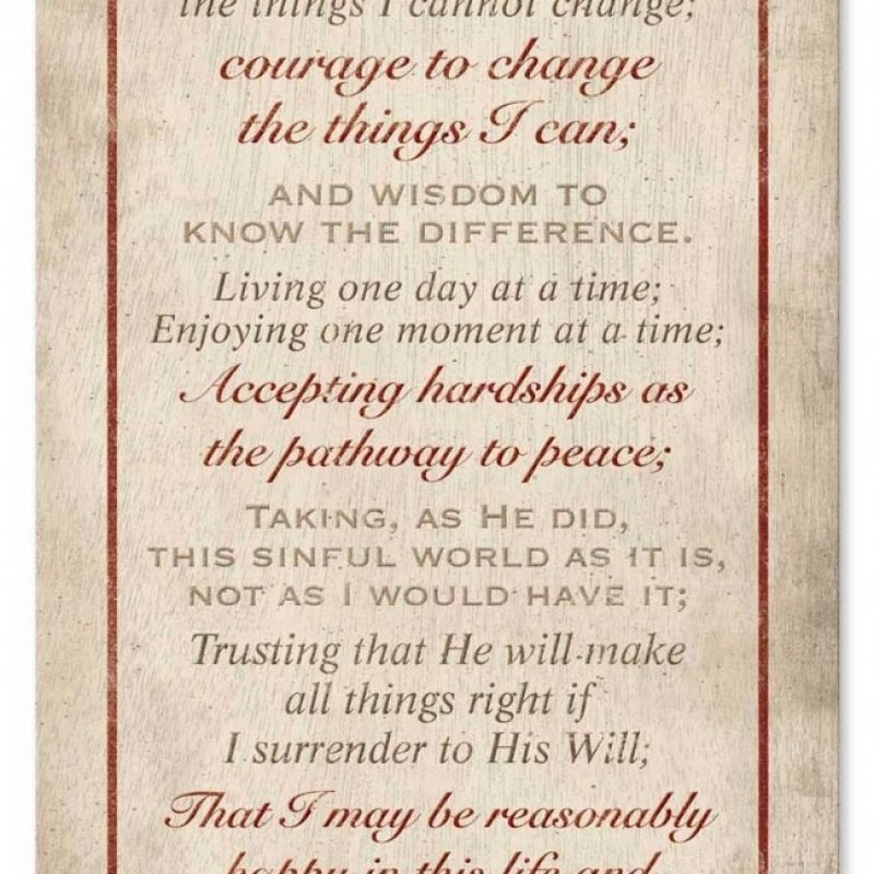 10 Top Pics Of Serenity Prayer FULL HD 1080p For PC Background 2020 free download serenity prayer satin past time signs 1 800x800