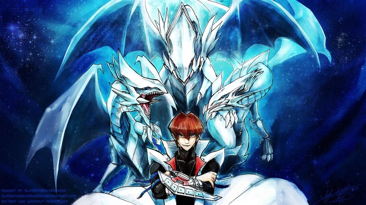 seto kaiba - blue eyes white dragon master - wp