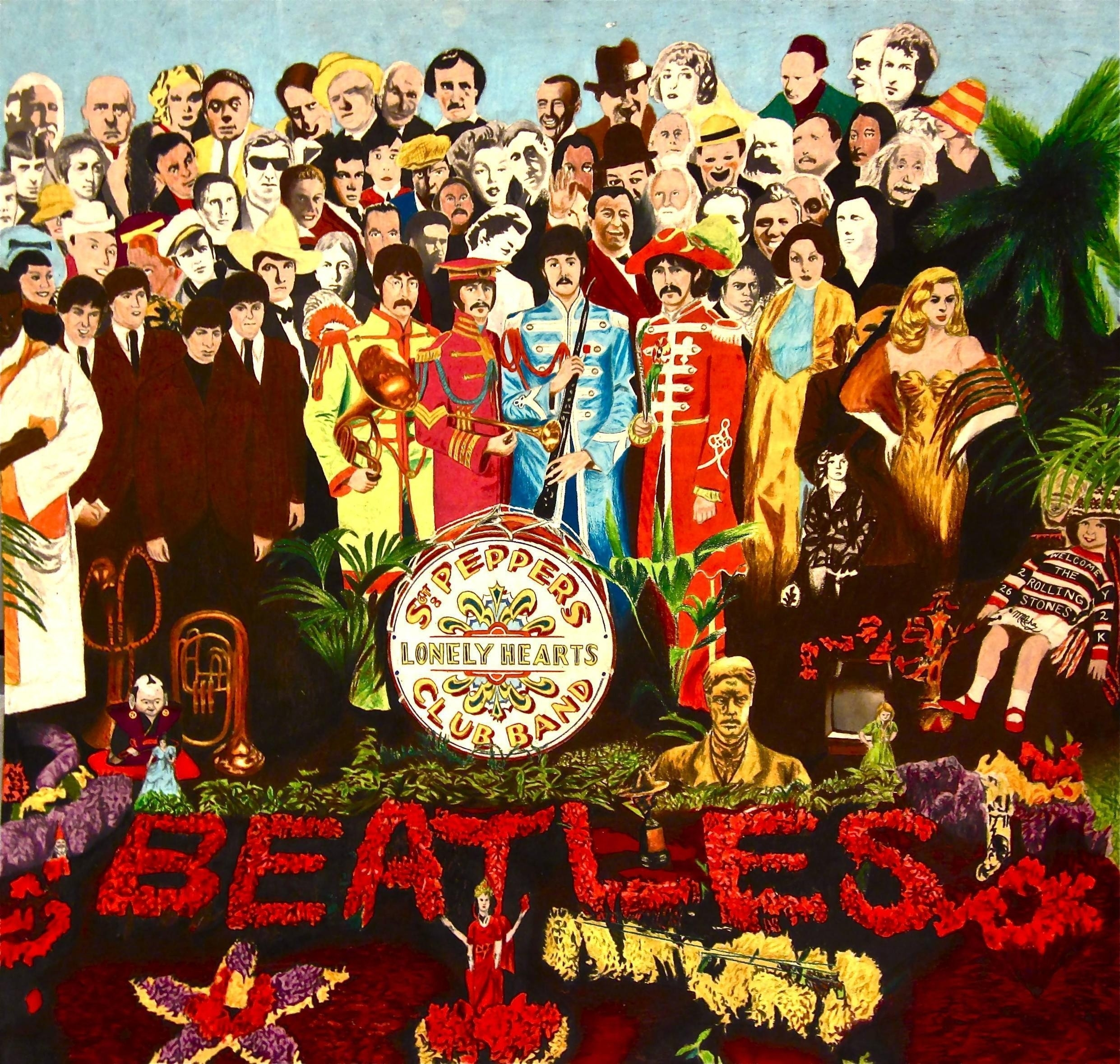 sgt peppers lonely heart club iphone wallpaper - wallpaper rocket