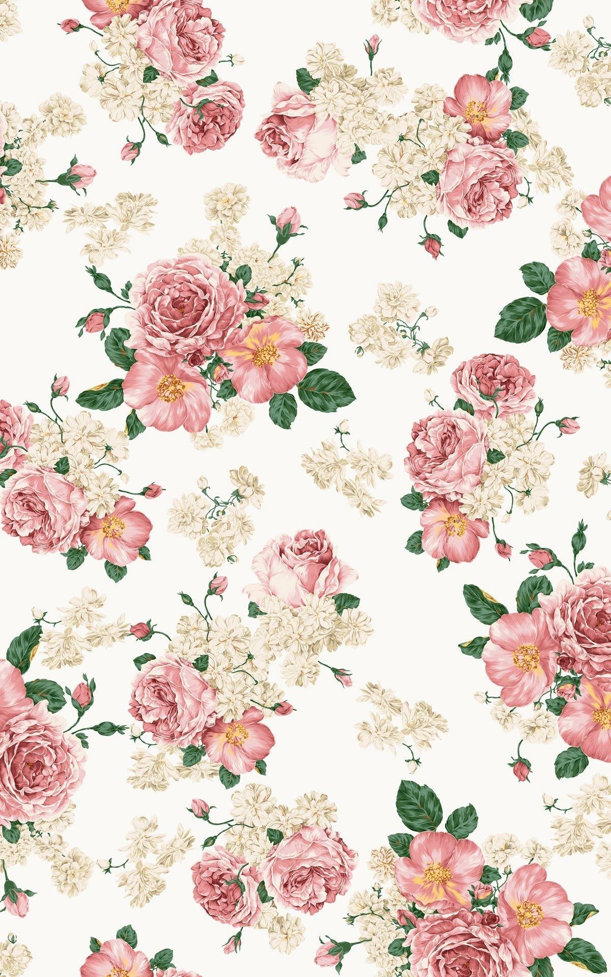shabby chic wallpaper | vintage floral wallpaper | pinterest | fleur