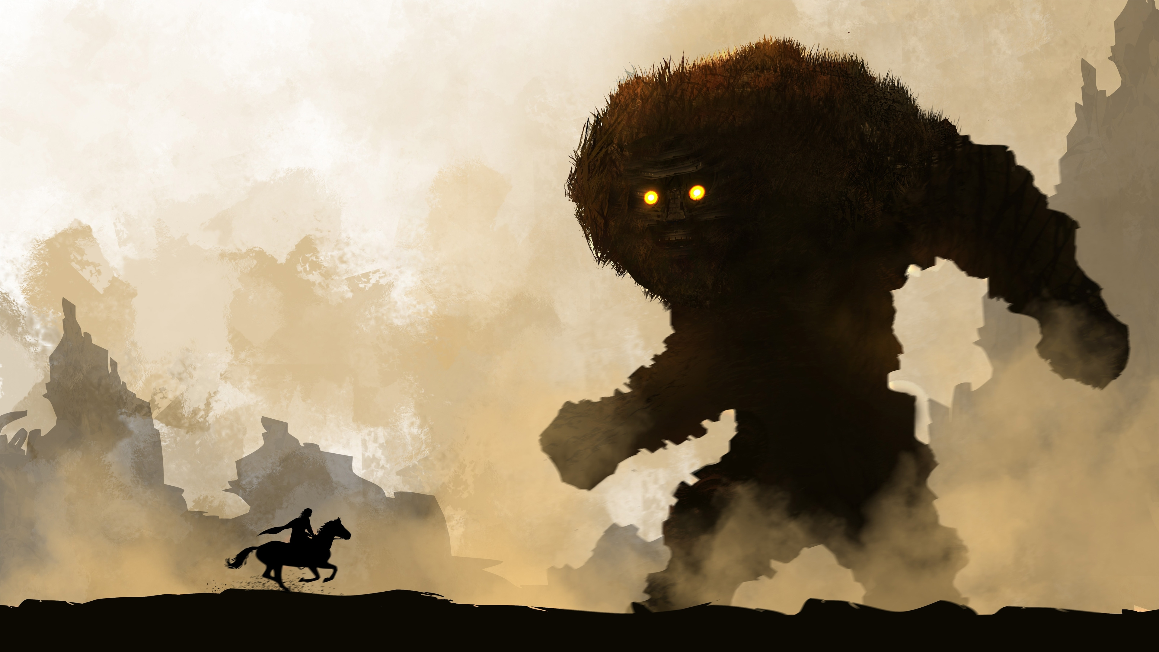 shadow of the colossus 4k, hd games, 4k wallpapers, images