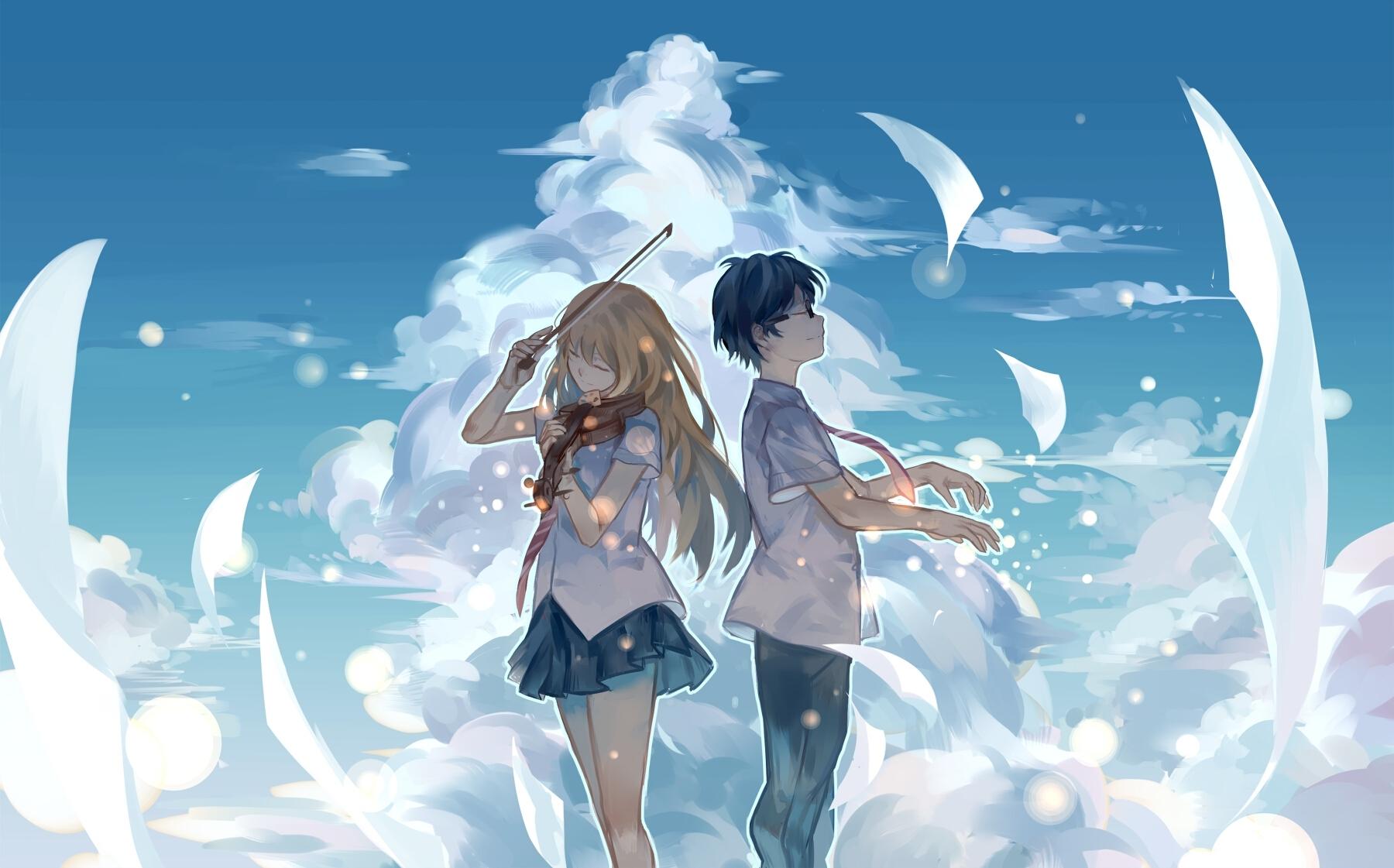 shigatsu wa kimi no uso (your lie in april) - zerochan anime image board