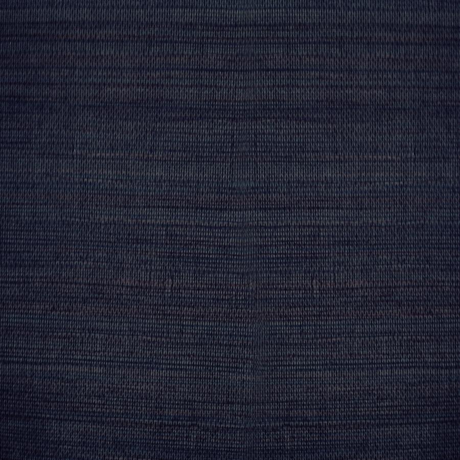 shop allen + roth navy blue grasscloth unpasted textured wallpaper