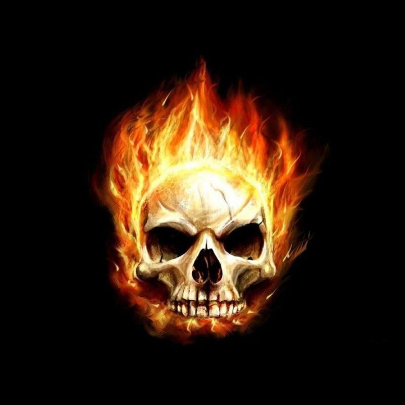 10 Best Skulls On Fire Wallpaper FULL HD 1080p For PC Desktop 2019