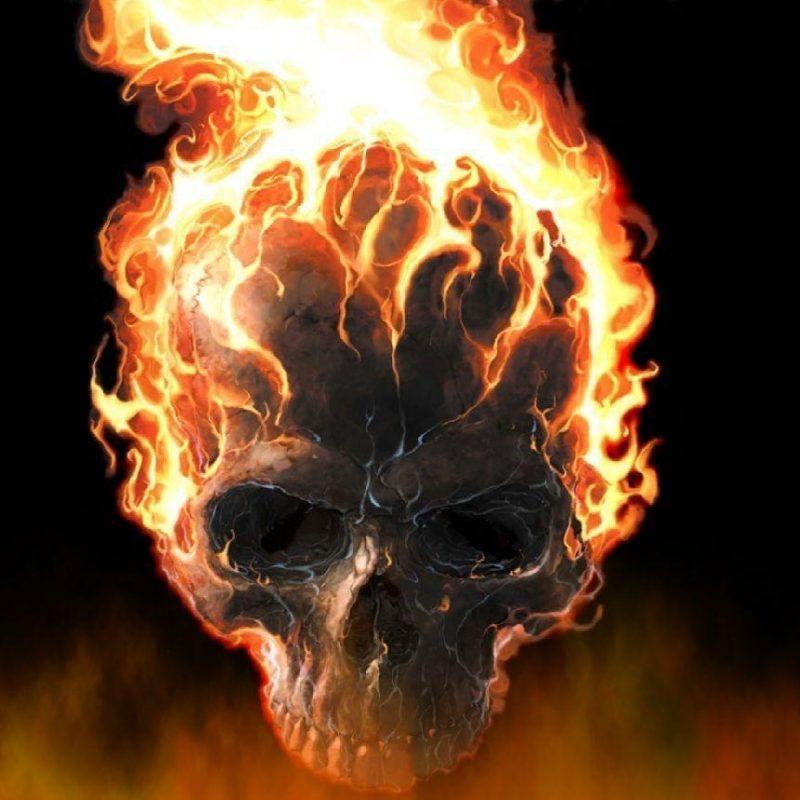 10 Best Skulls On Fire Wallpaper FULL HD 1080p For PC