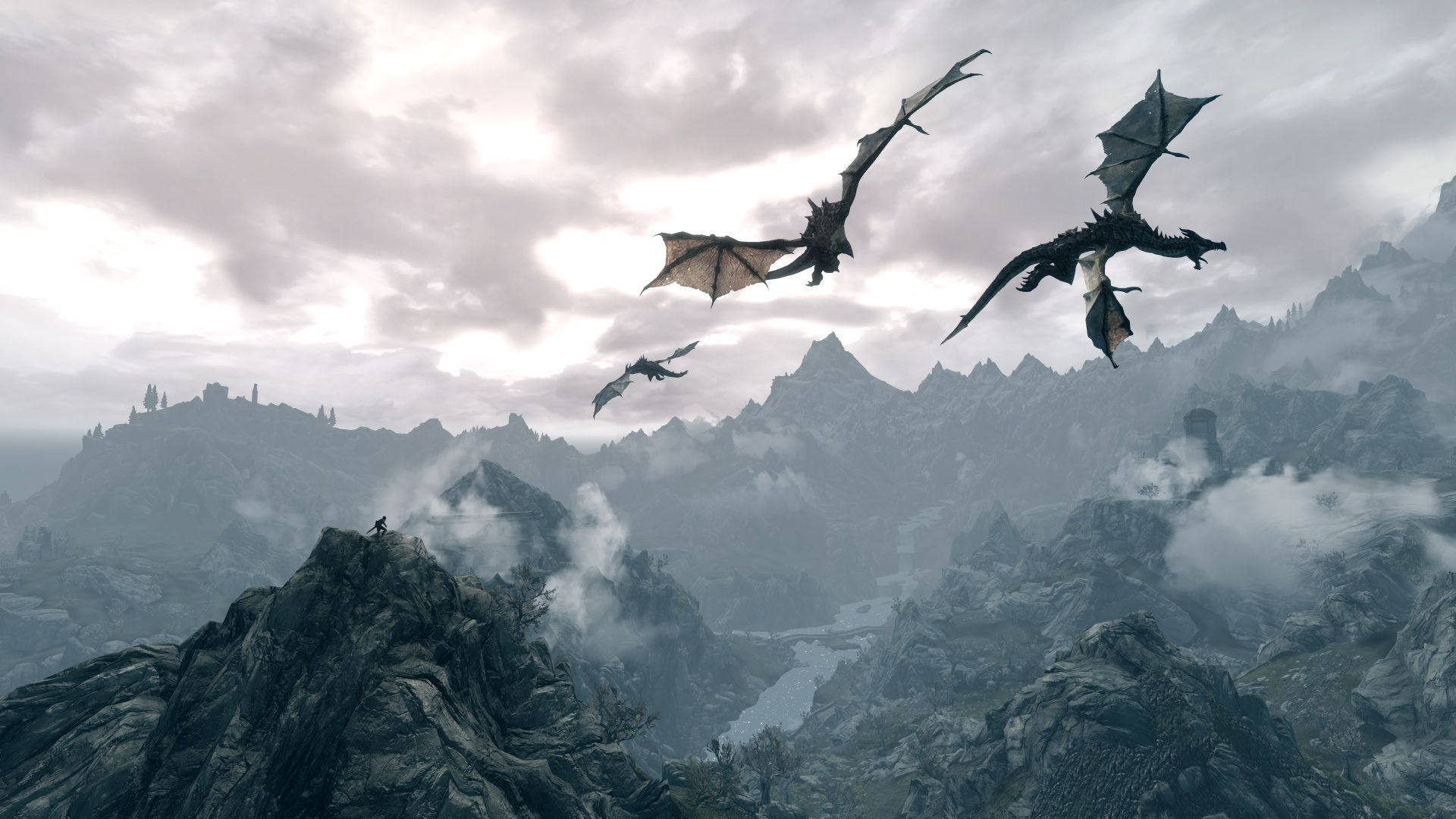 skyrim dragon wallpapers - wallpaper cave | skyrim | pinterest