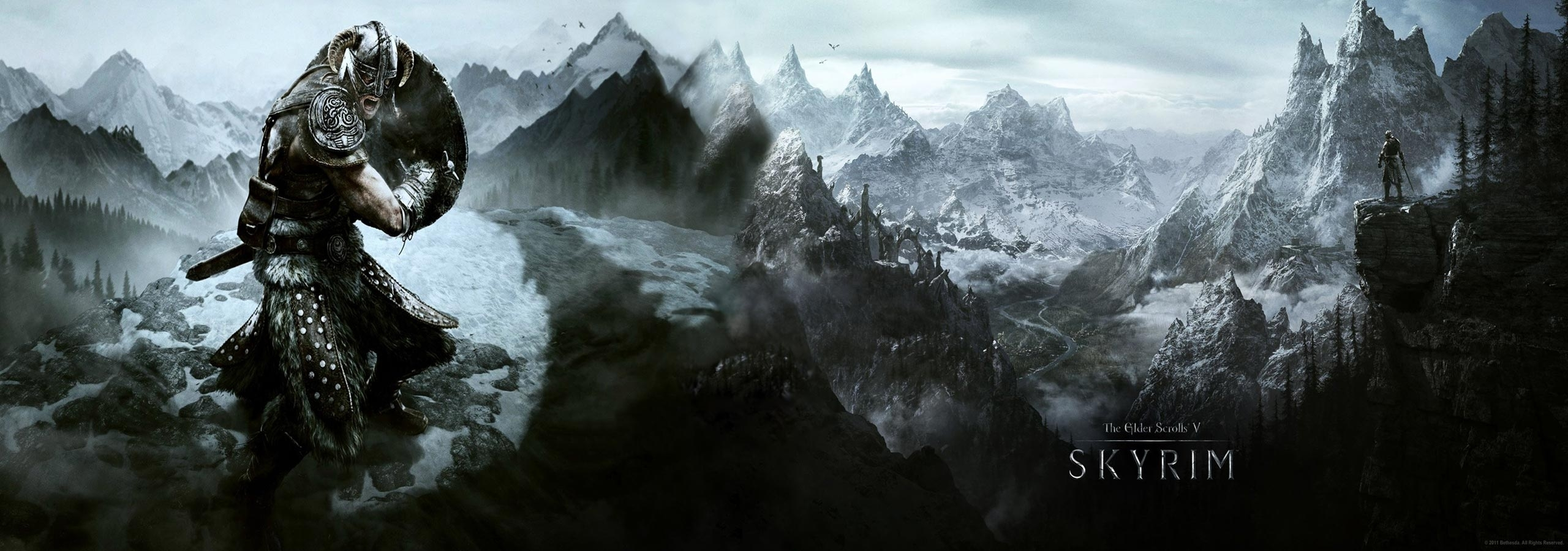 skyrim dual screen wallpaper | 2560x900 | id:60839 - wallpapervortex