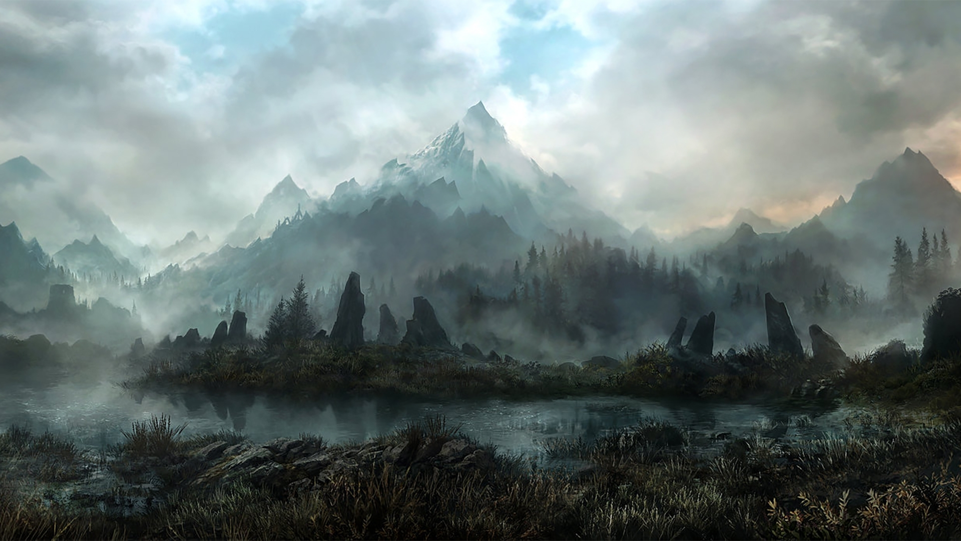 skyrim landscape hd wallpaper | 1920x1080 | id:47499