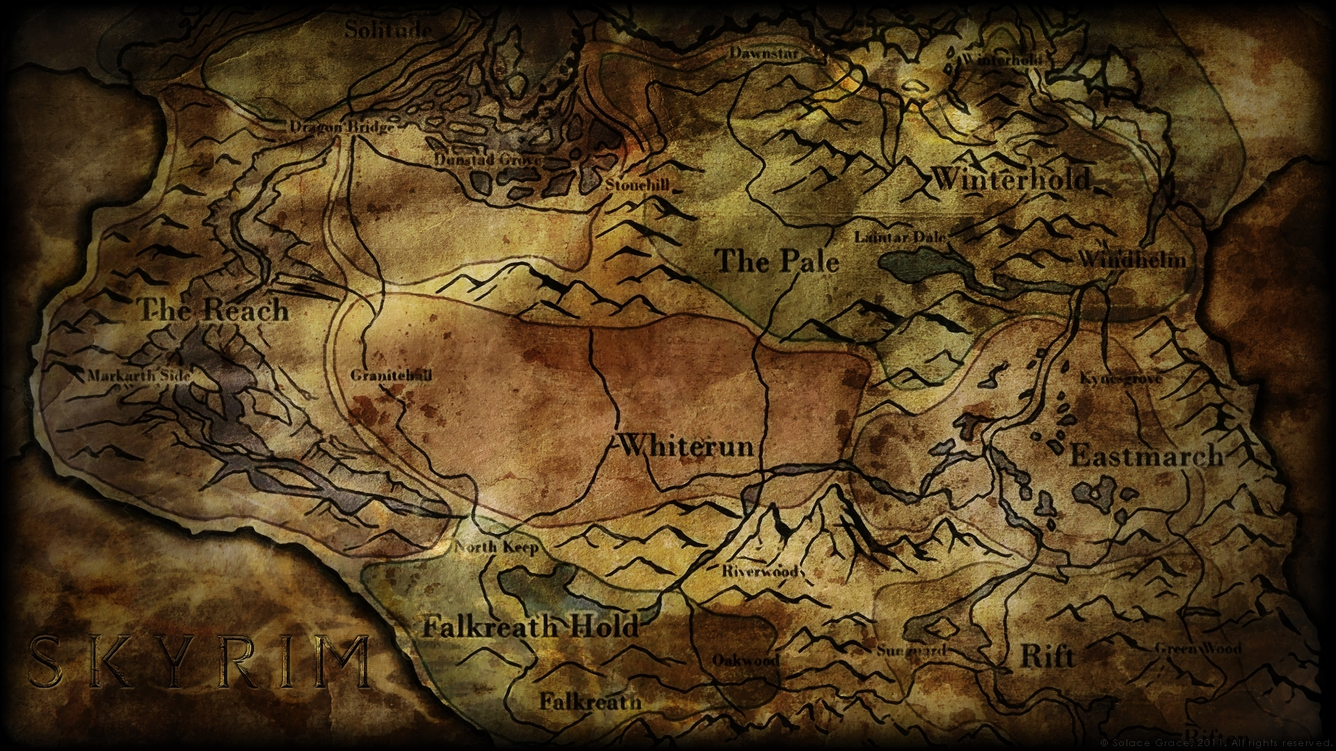 skyrim map - over 25 different maps of skyrim to map out your journey