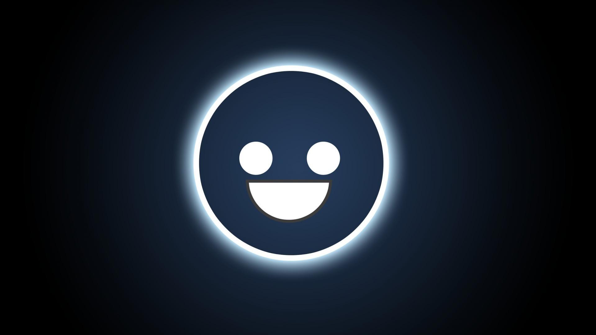 smiley face icons simplistic black background symbols wallpaper