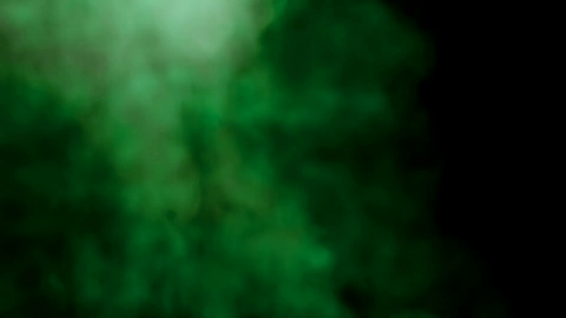 smoke colorful green on black background. abstract smoke background