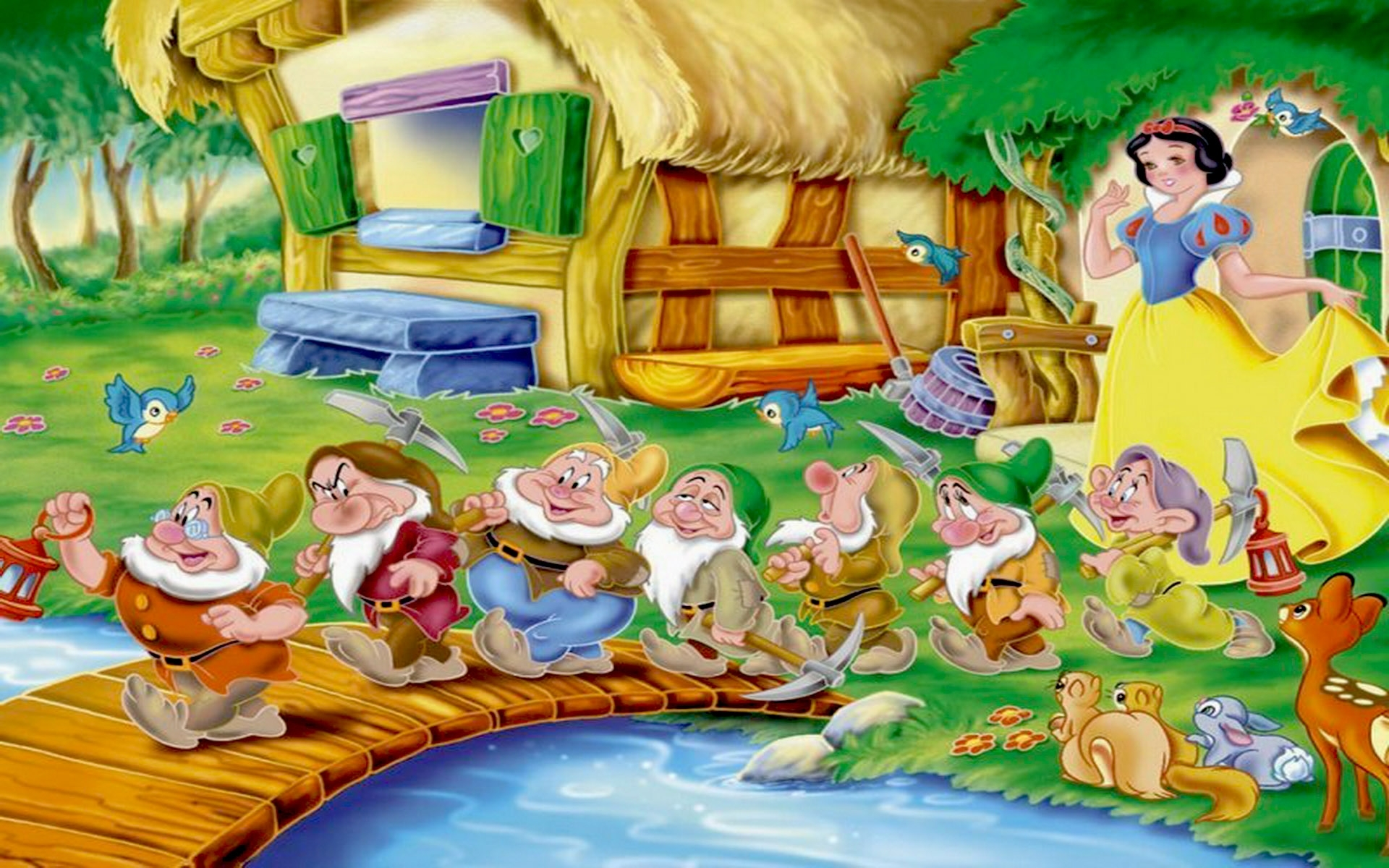 snow white and the seven dwarfs wallpapers : wallpapers13