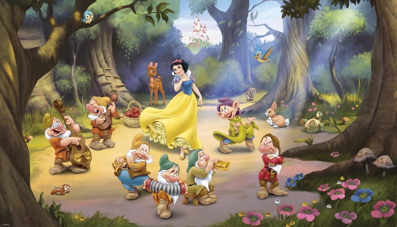snow white and the seven dwarfs xl wallpaper mural 10.5' x 6