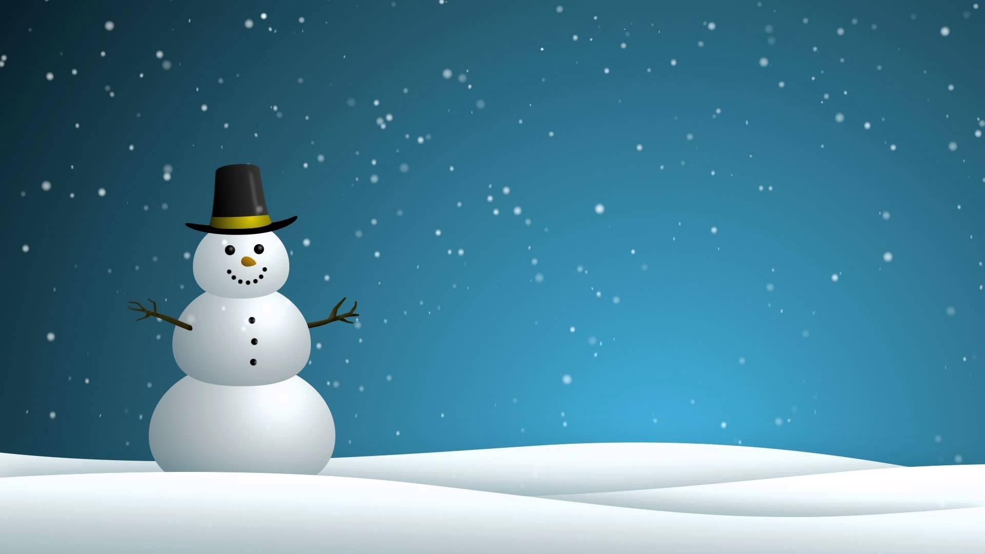 snowman - hd background loop - youtube