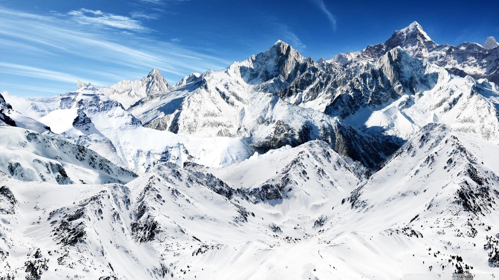 snowy mountain peaks ❤ 4k hd desktop wallpaper for 4k ultra hd tv