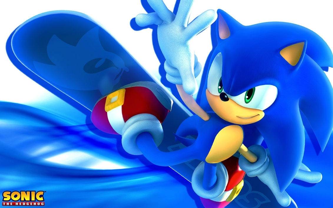 sonic the hedgehog snowboarding wallpapersonicthehedgehogbg on