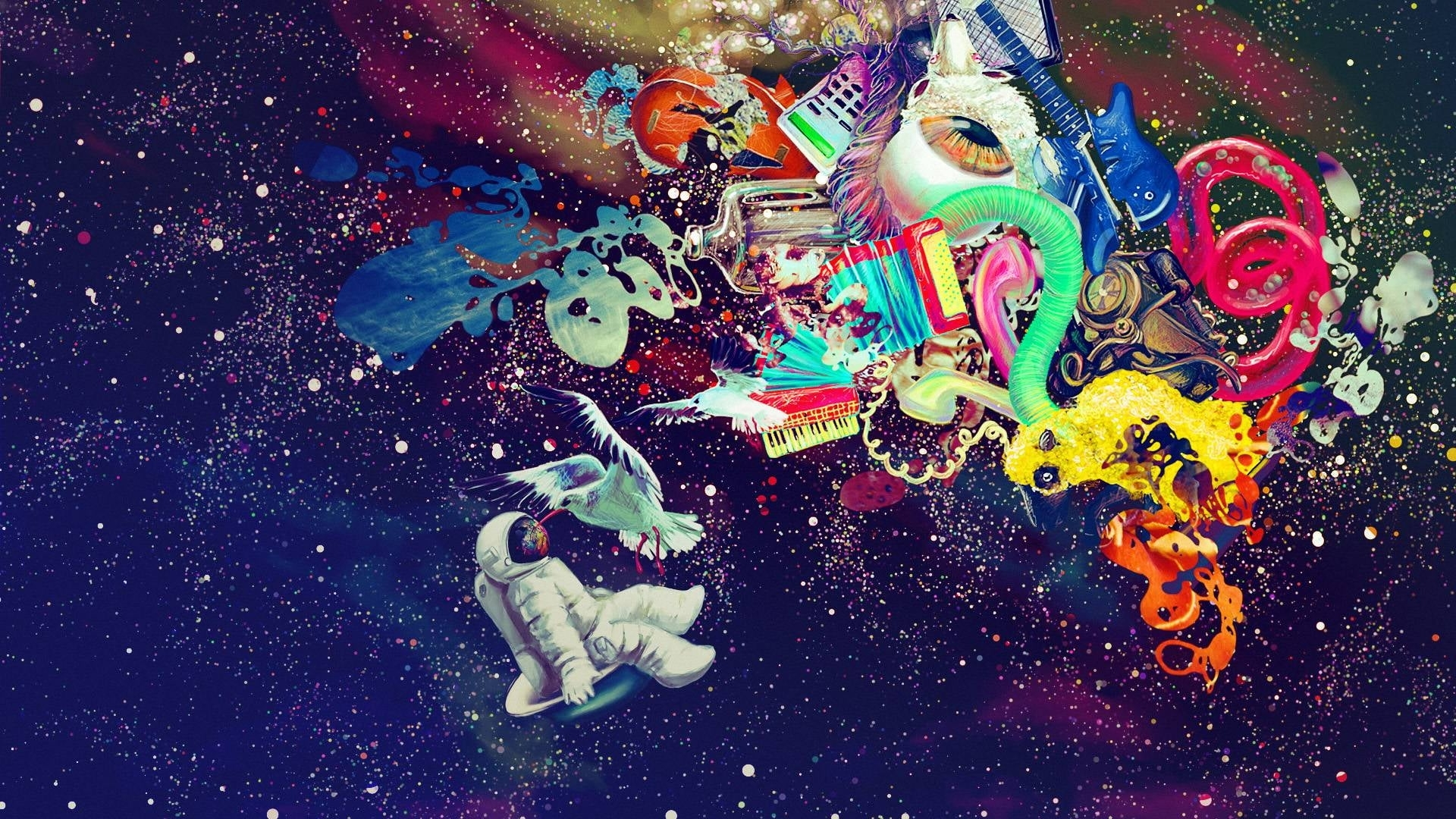 space, colorful, abstract, psychedelic hd wallpaper   wallpaper flare