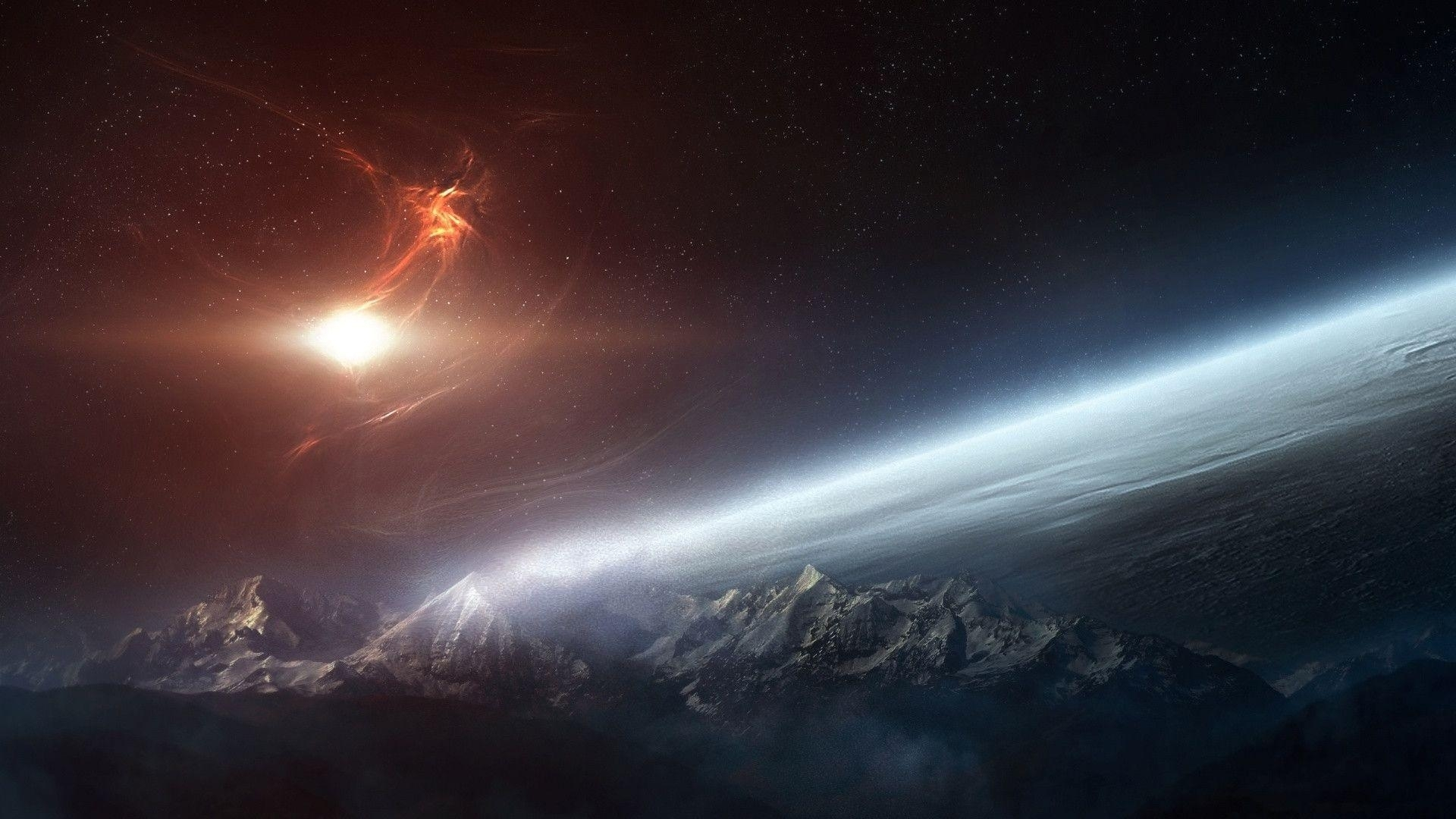space desktop backgrounds 1920x1080 - wallpaper cave