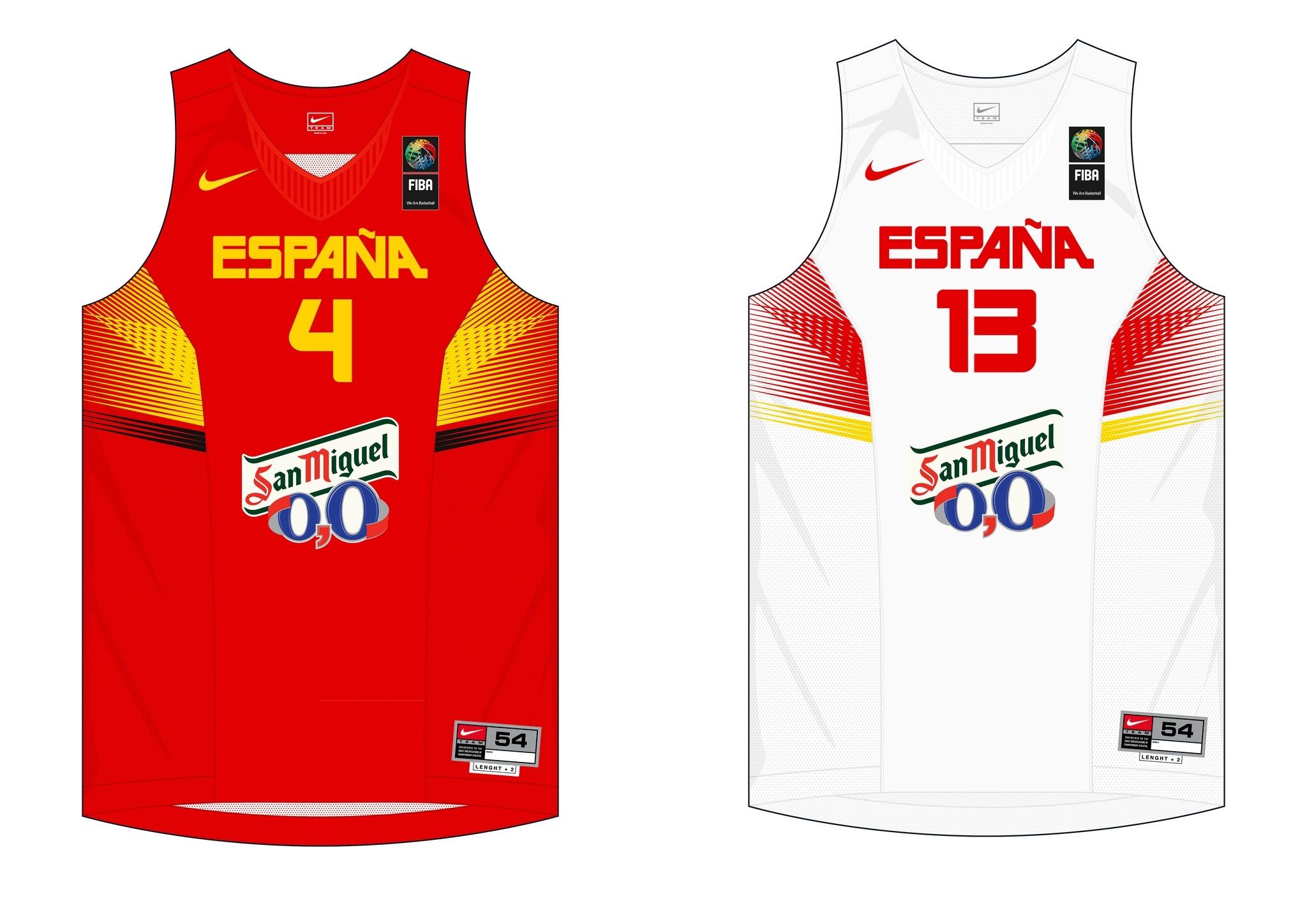 spain national team jersey (fiba world championship 2014, spain) | nba