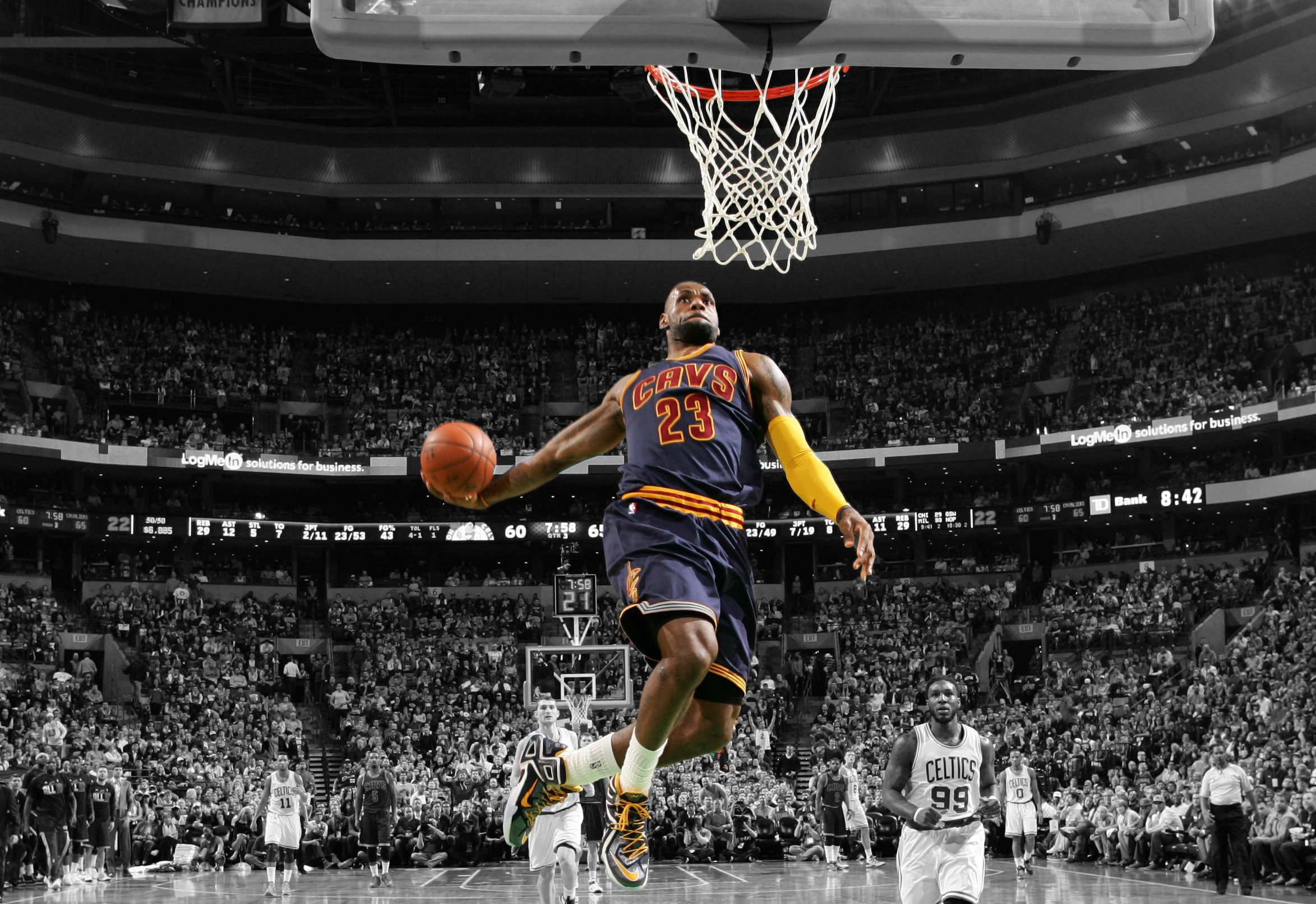 sports lebron james basketball player wallpapers (desktop, phone