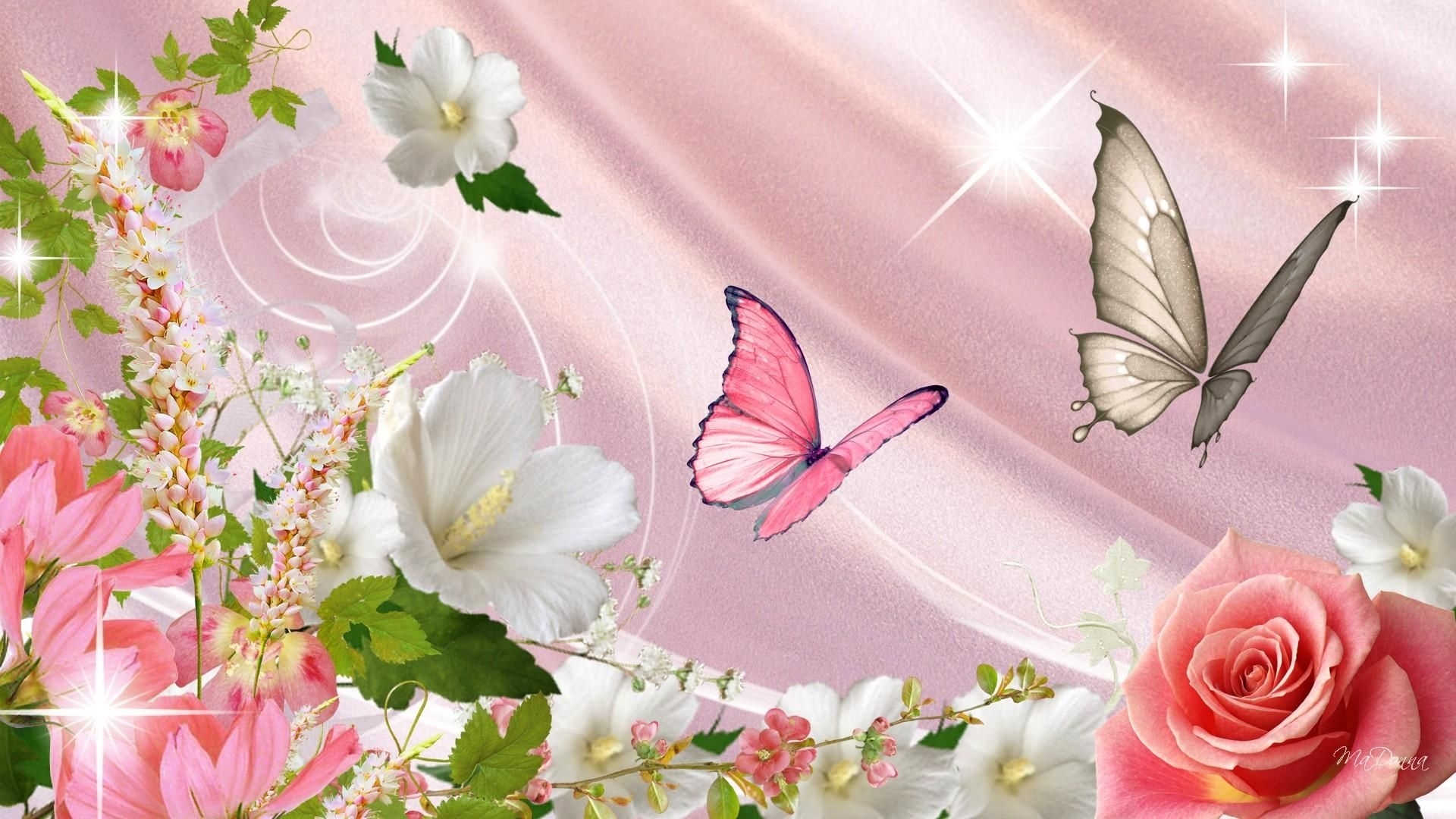 spring flowers and butterflies | shiinamomo | nature | pinterest