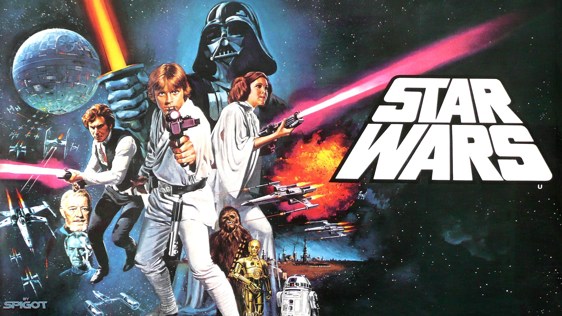 star wars movie poster wallpaper - wallpapersafari