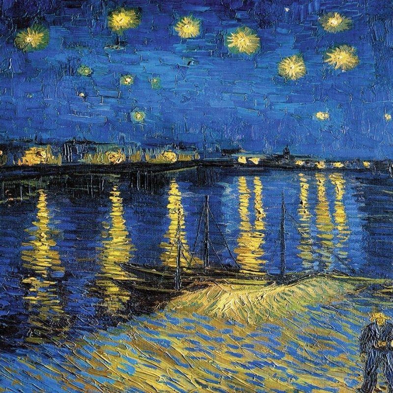 10 New Starry Night Over The Rhone Wallpaper FULL HD 1080p For PC Background 2020 free download starry night over the rhone wallpaper 46 images 800x800