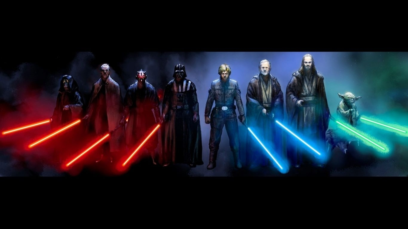 starry wallpaper | 1366x768 star wars sith and jedi desktop pc and