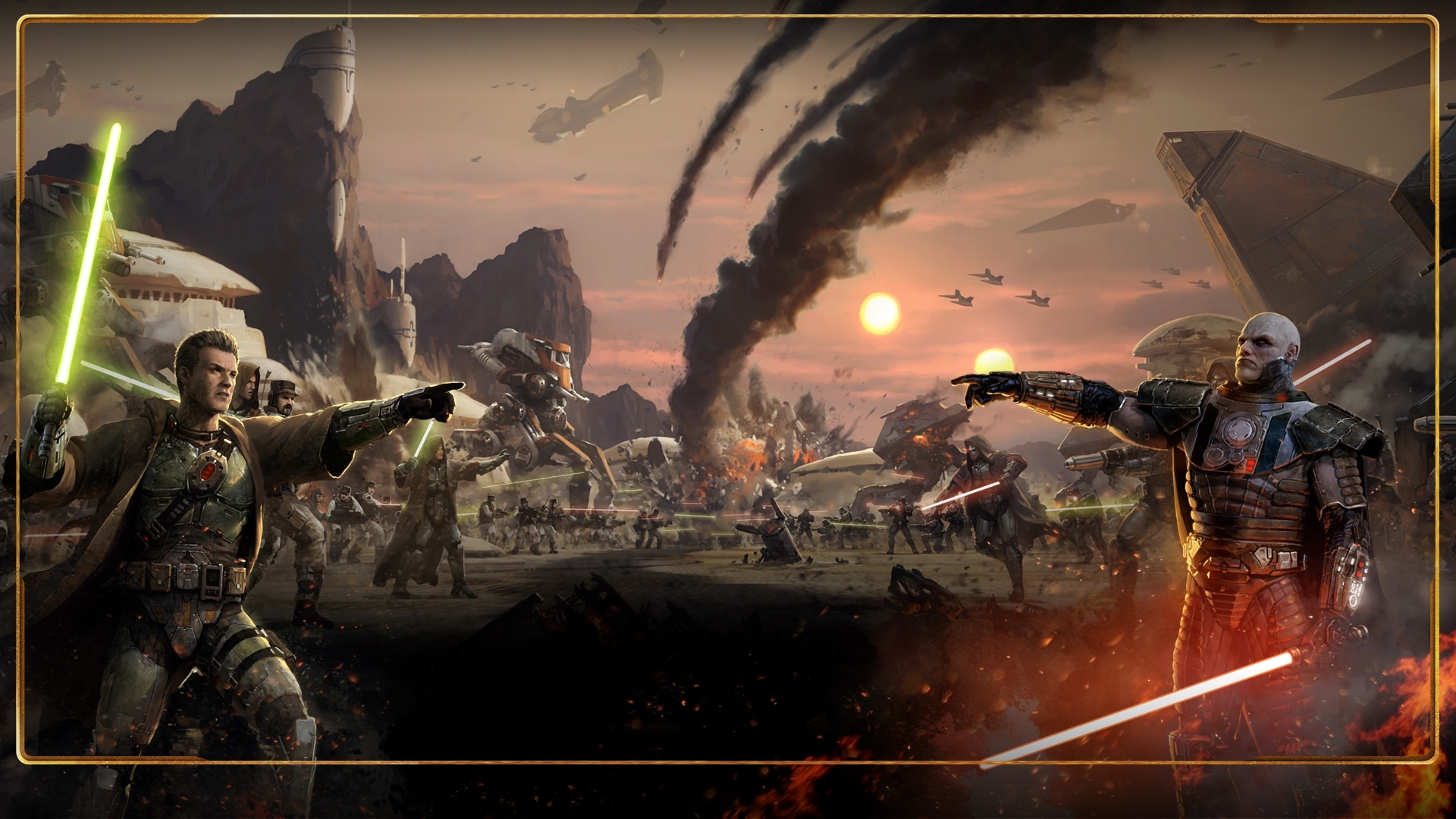 starwars: the old republic images jedi vs sith hd wallpaper and