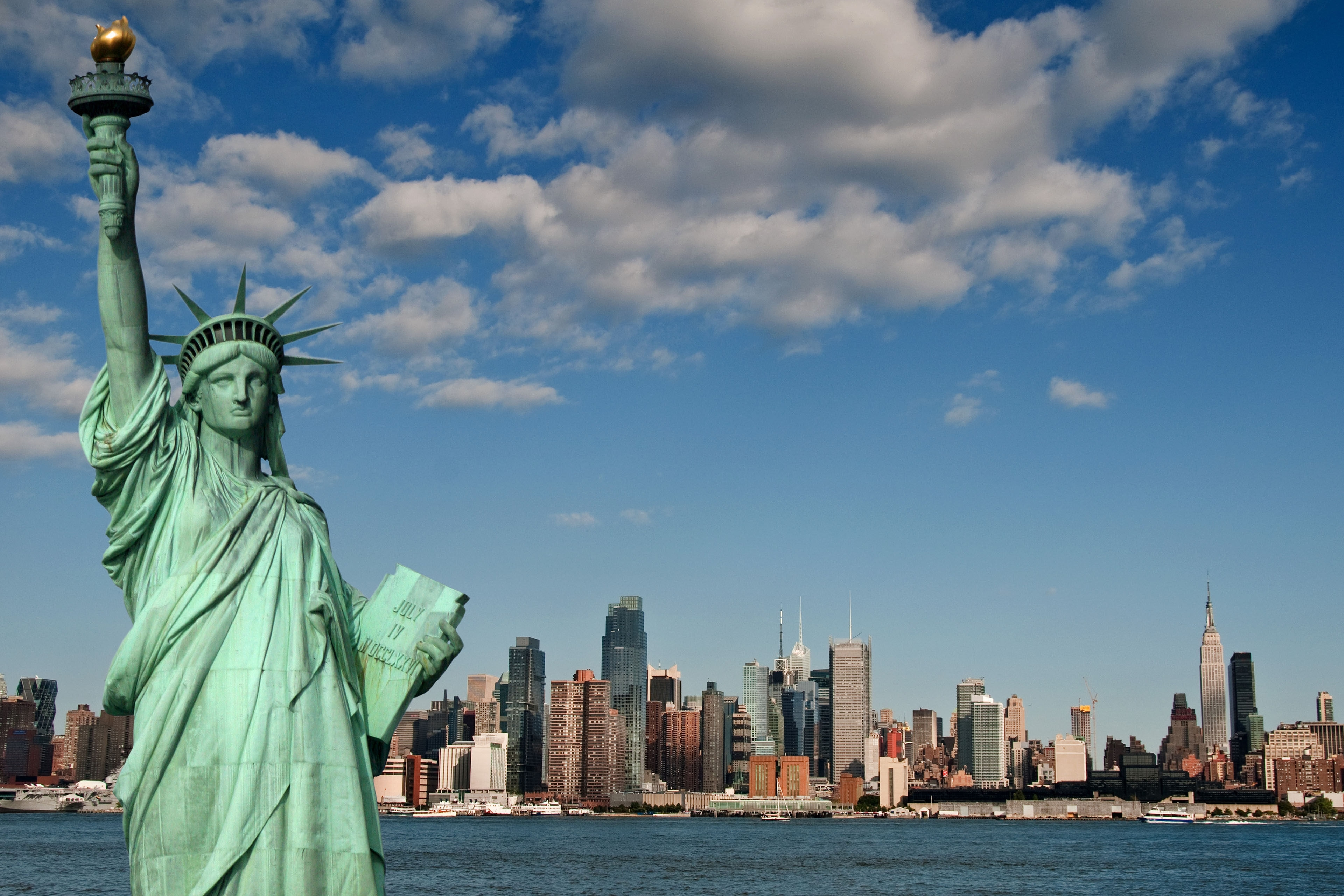 statue of liberty widescreen wallpaper 48969 3840x2560 px