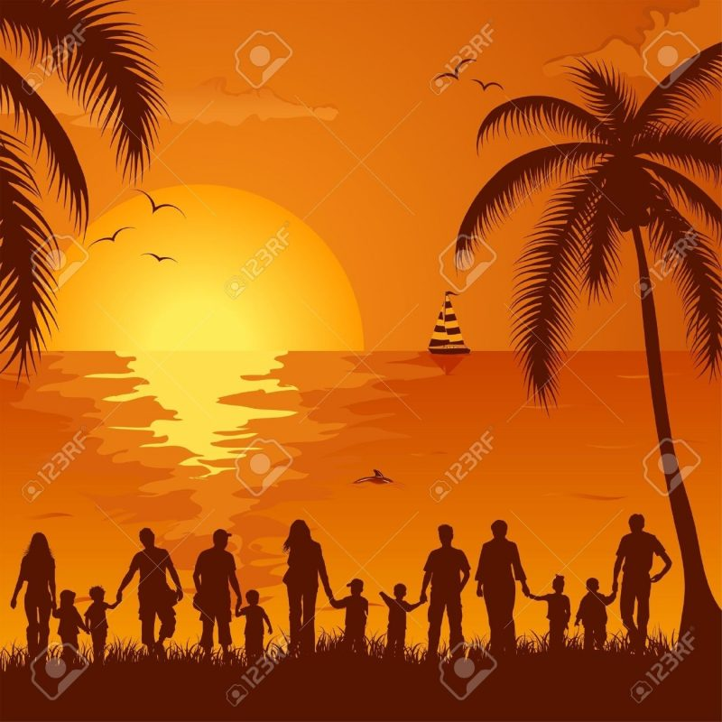 10 Latest Background For Family Photos FULL HD 1920×1080 For PC Desktop 2021 free download summer background with silhouette family palm tree dolphin 800x800