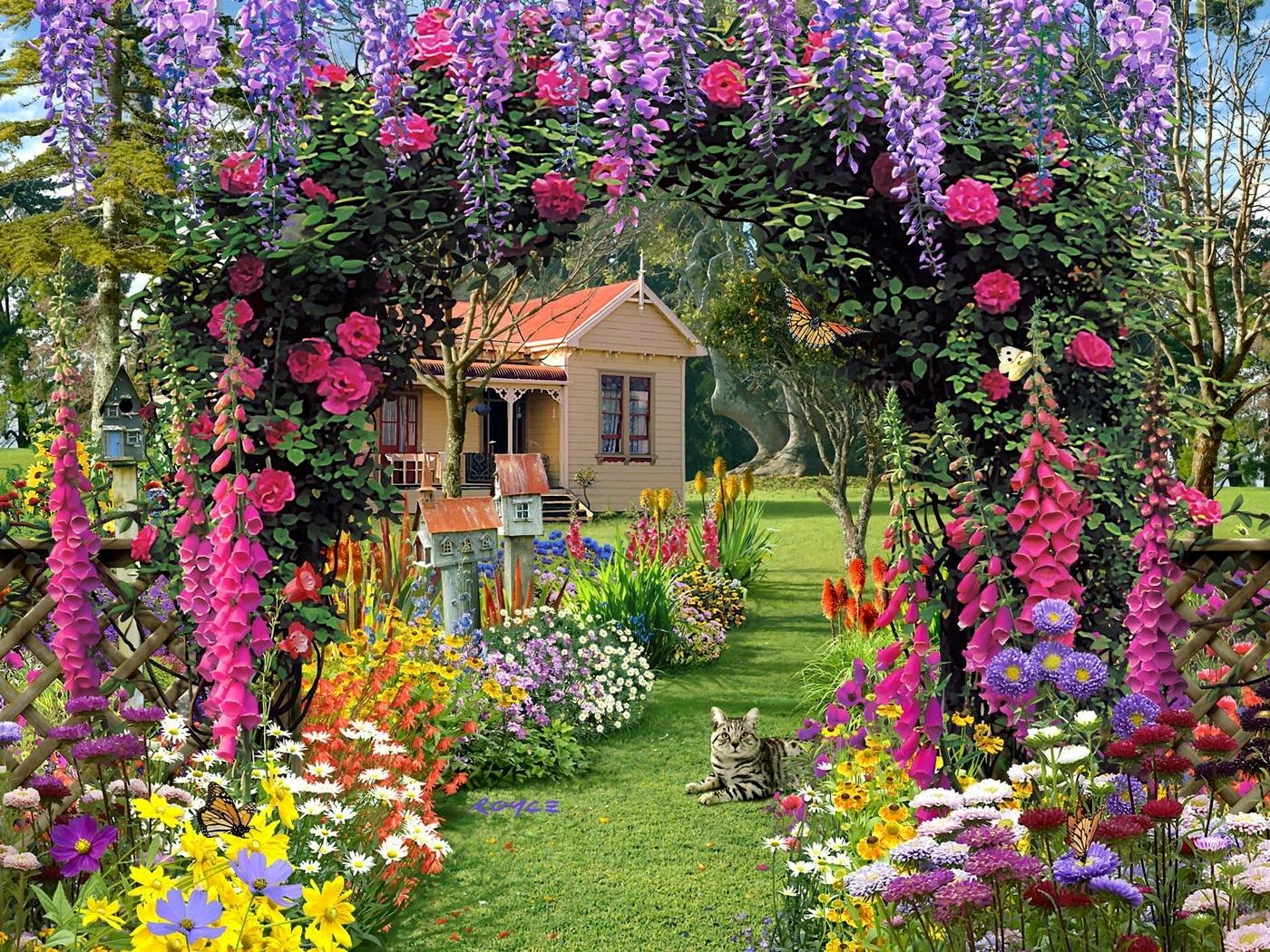 summer garden flower wallpaper-free-hd-for-desktop - hd wallpaper