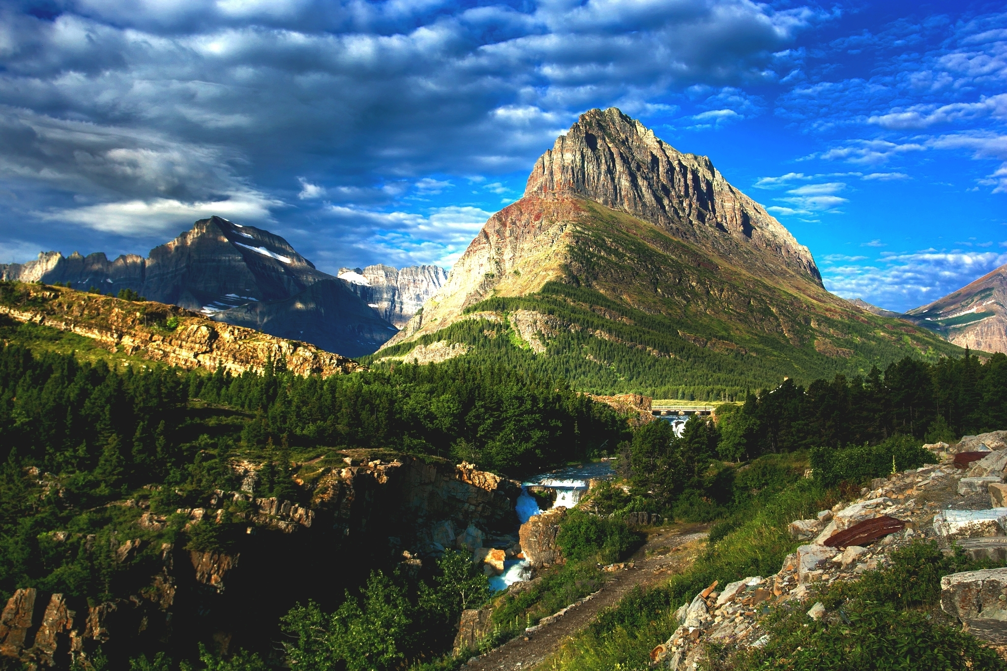 summer on glacier national park desktop background - media file