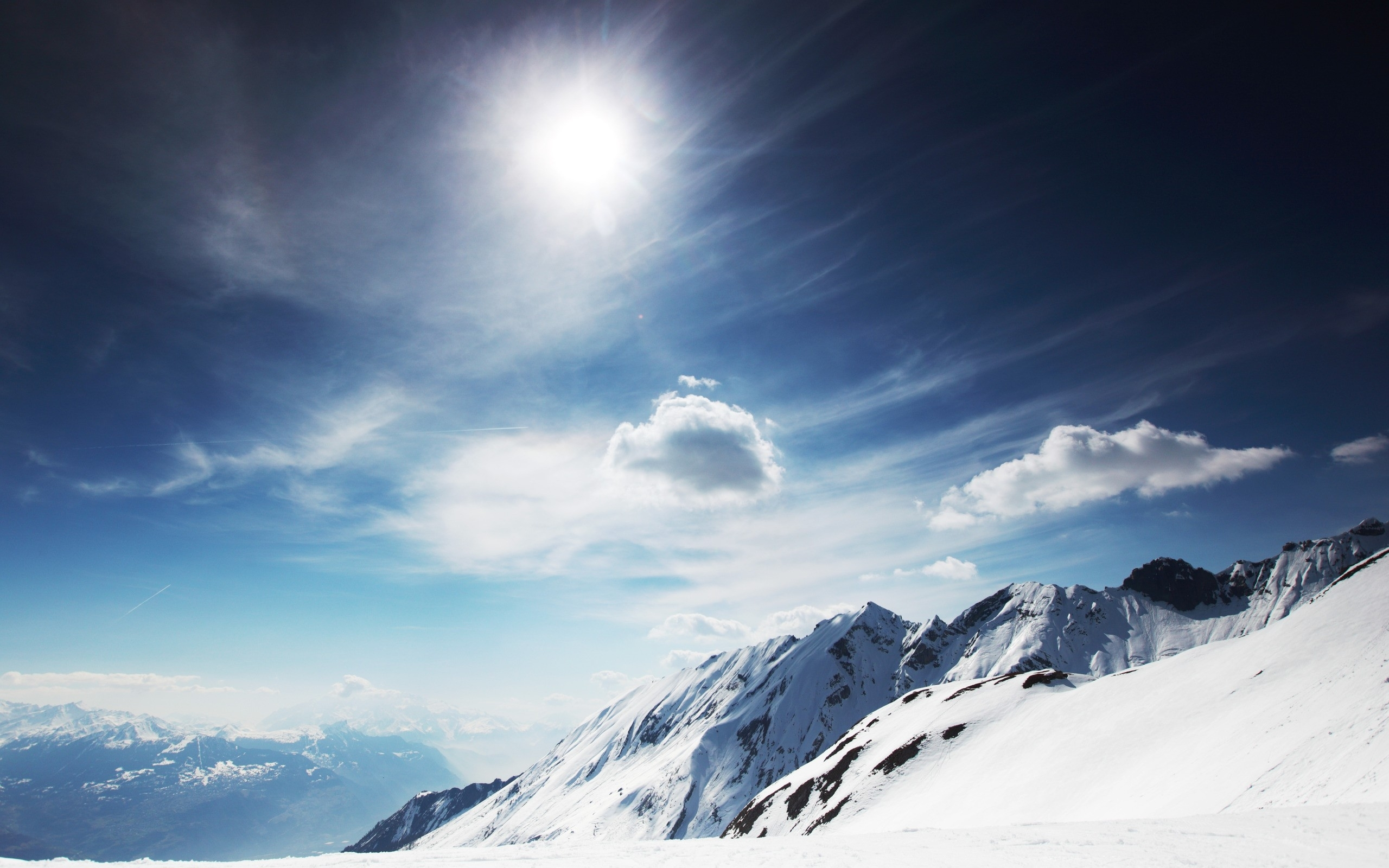 sunny snowy mountains wallpapers | hd wallpapers | id #9799