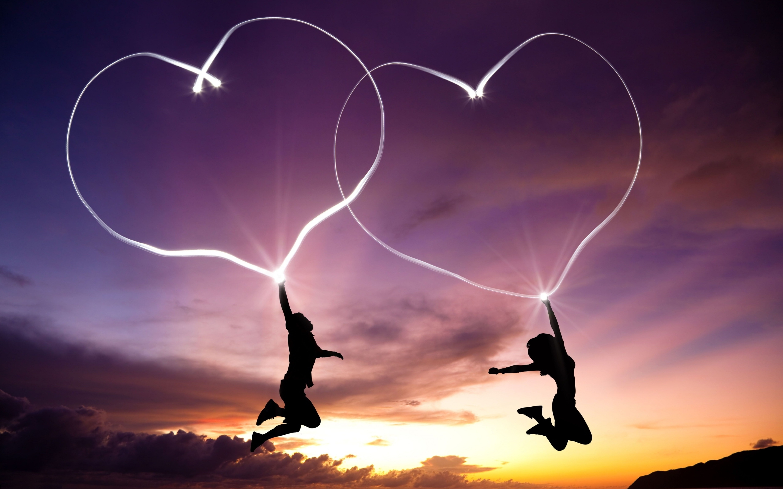 sunset-heart-boy-girl-i-love-you-background - wallpaper.wiki