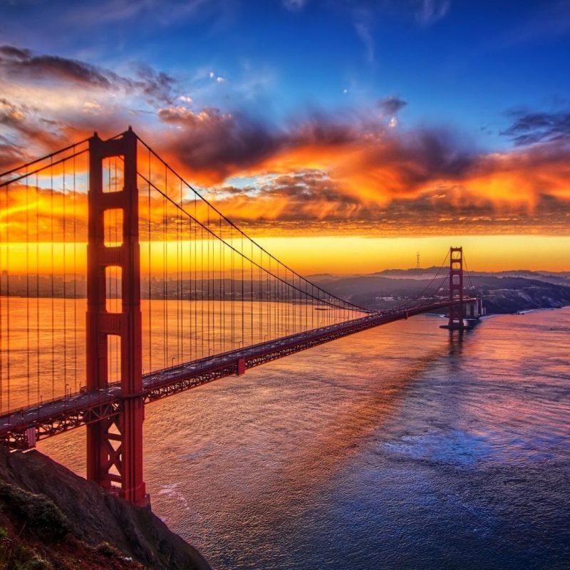 10 Most Popular Golden Gate Bridge Wallpaper 1920X1080 FULL HD 1920×1080 For PC Desktop 2018 free download sunset over golden gate bridge full hd wallpaper and background 800x800