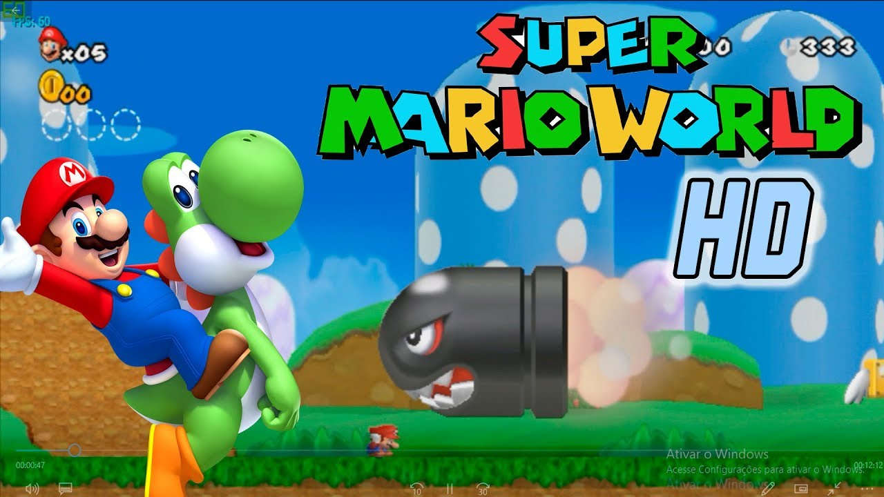 super mario world hd - que jogo marioavilhoso - youtube