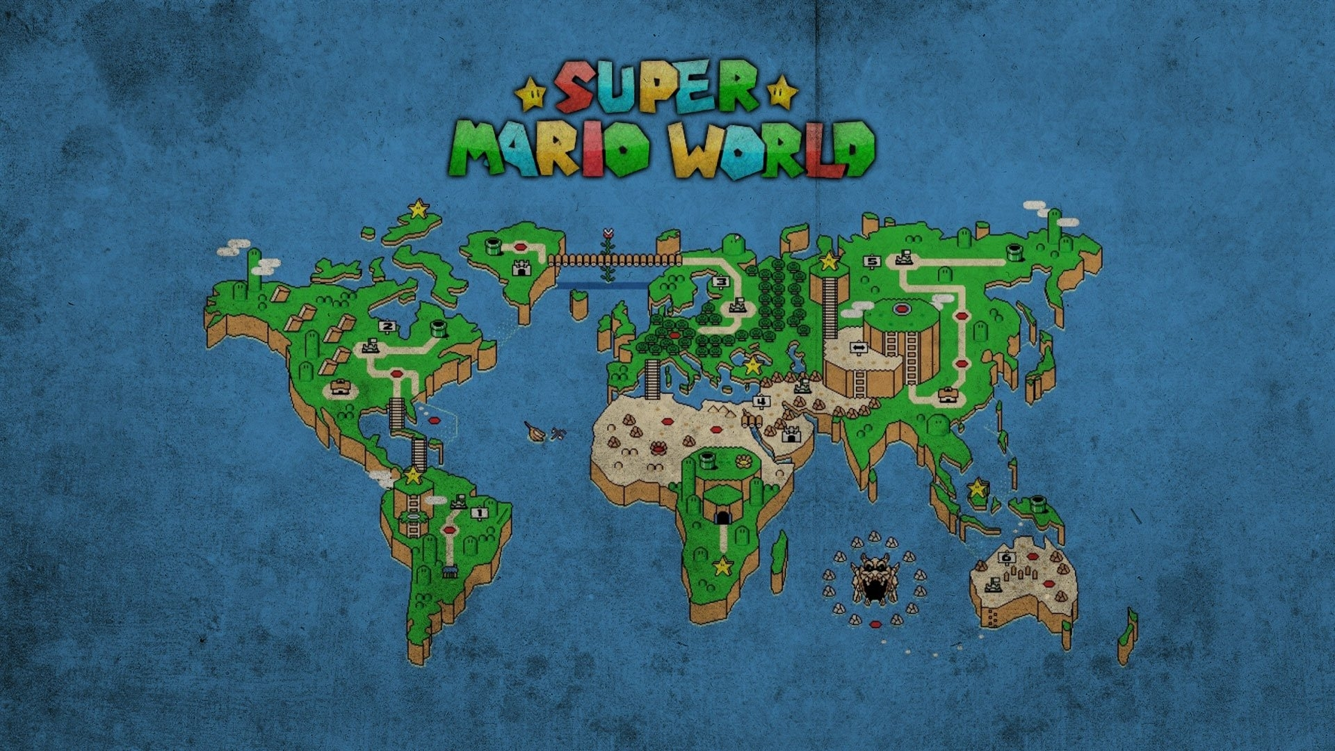 super mario world map 733863 - walldevil