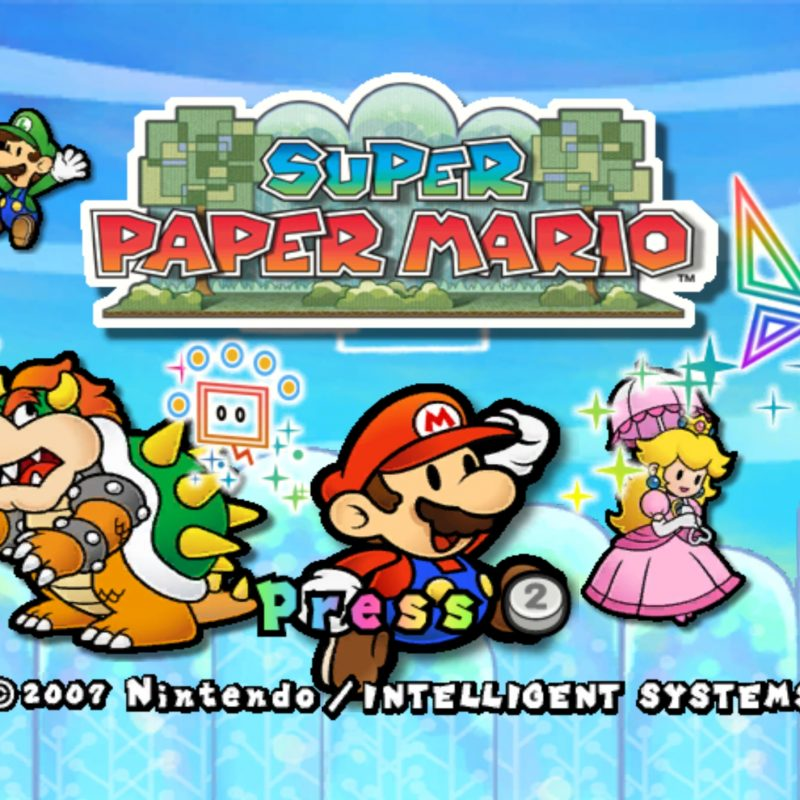 10 Top Super Paper Mario Wallpaper FULL HD 1920×1080 For PC Desktop 2021 free download super paper mario wallpapers group 77 800x800