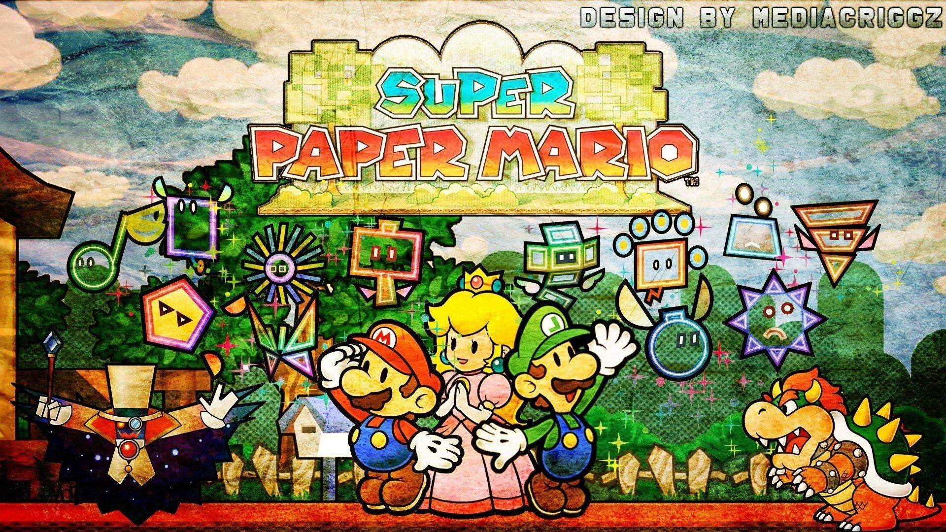 super paper mario wallpapers - wallpaper cave
