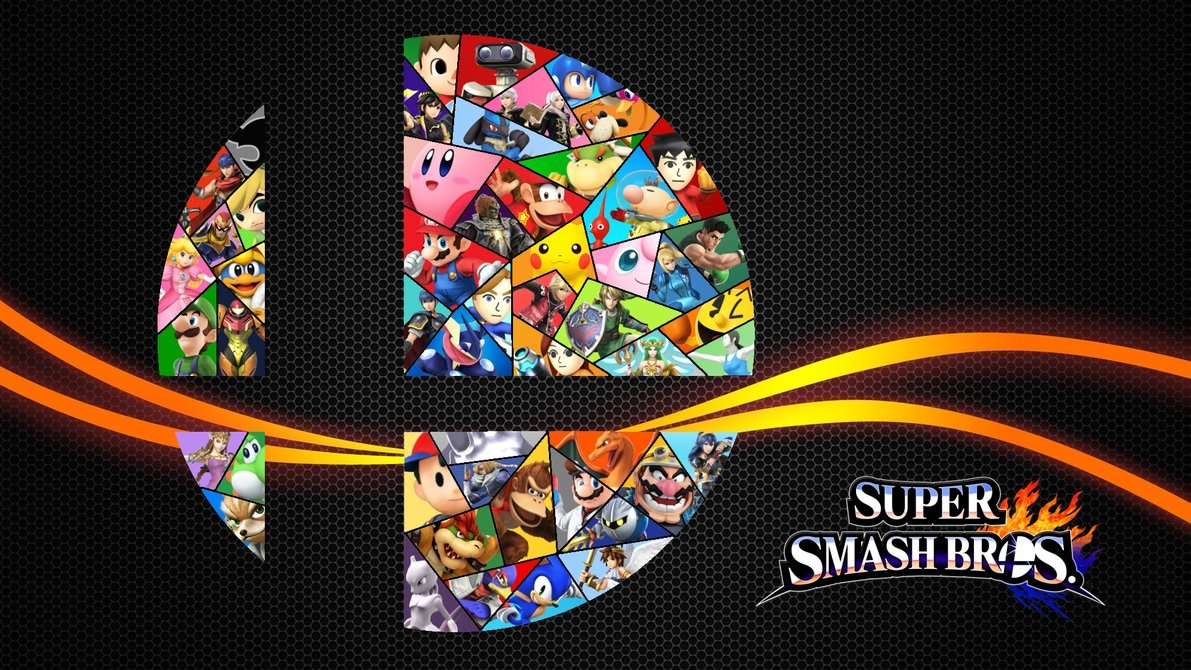 super smash bros 4: stained glass logoleepiin on deviantart