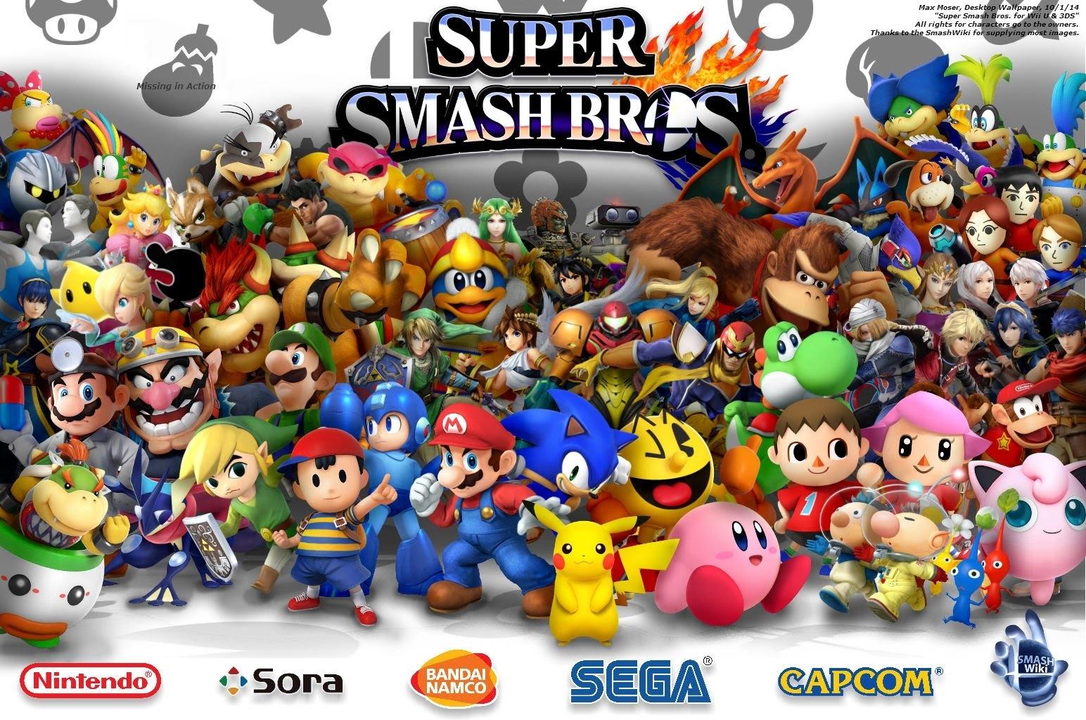 super smash bros. for wii u & 3ds (desktop wallpaper) - youtube