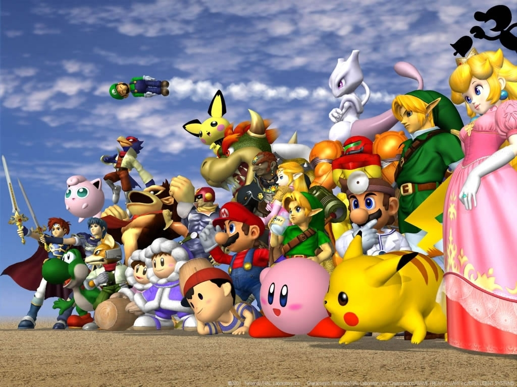 super smash bros. melee wallpaper (1024 x 768 pixels)