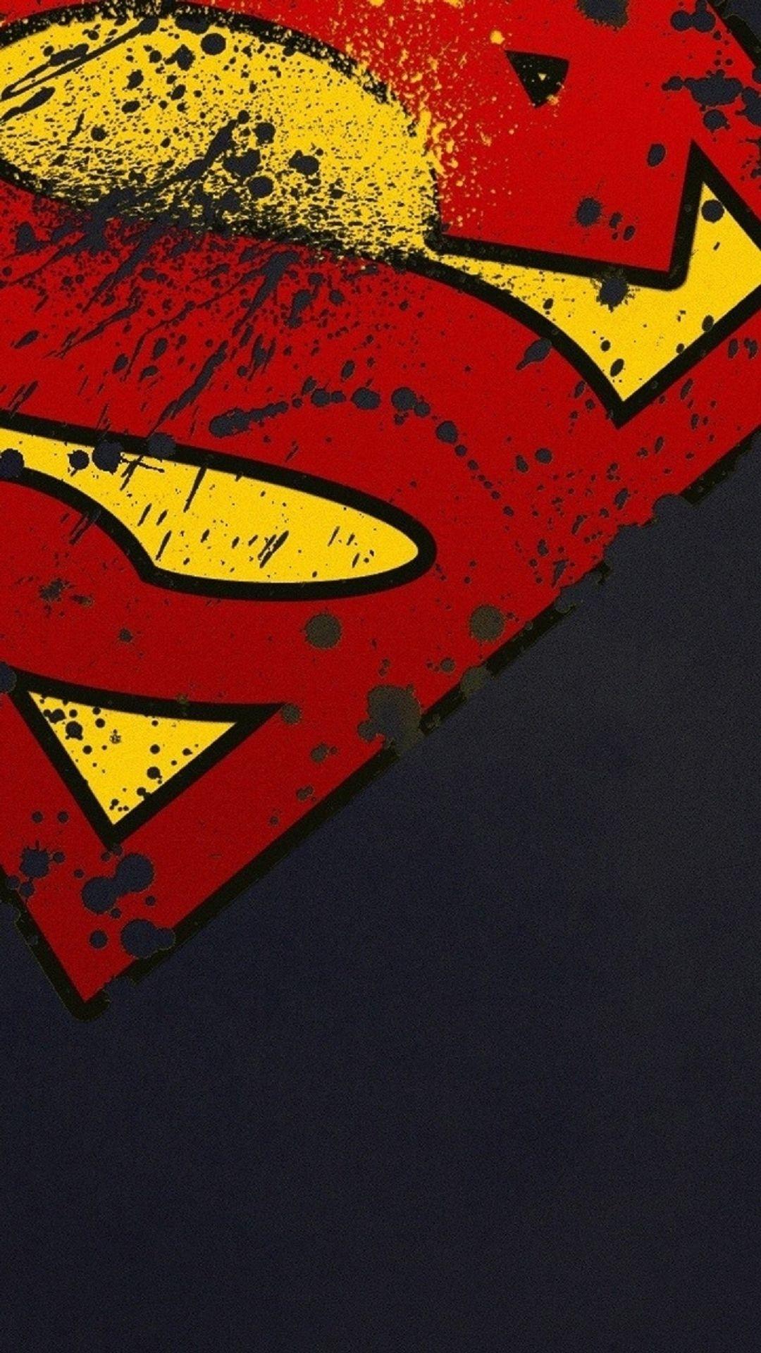superman logo iphone wallpaper hd - wallpapersafari | free