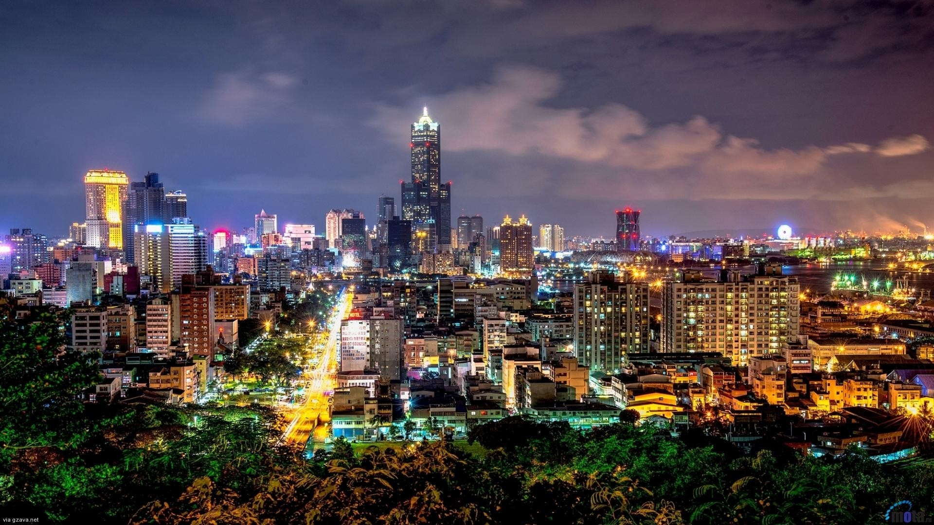 taiwan city at night wallpaper hd - media file | pixelstalk