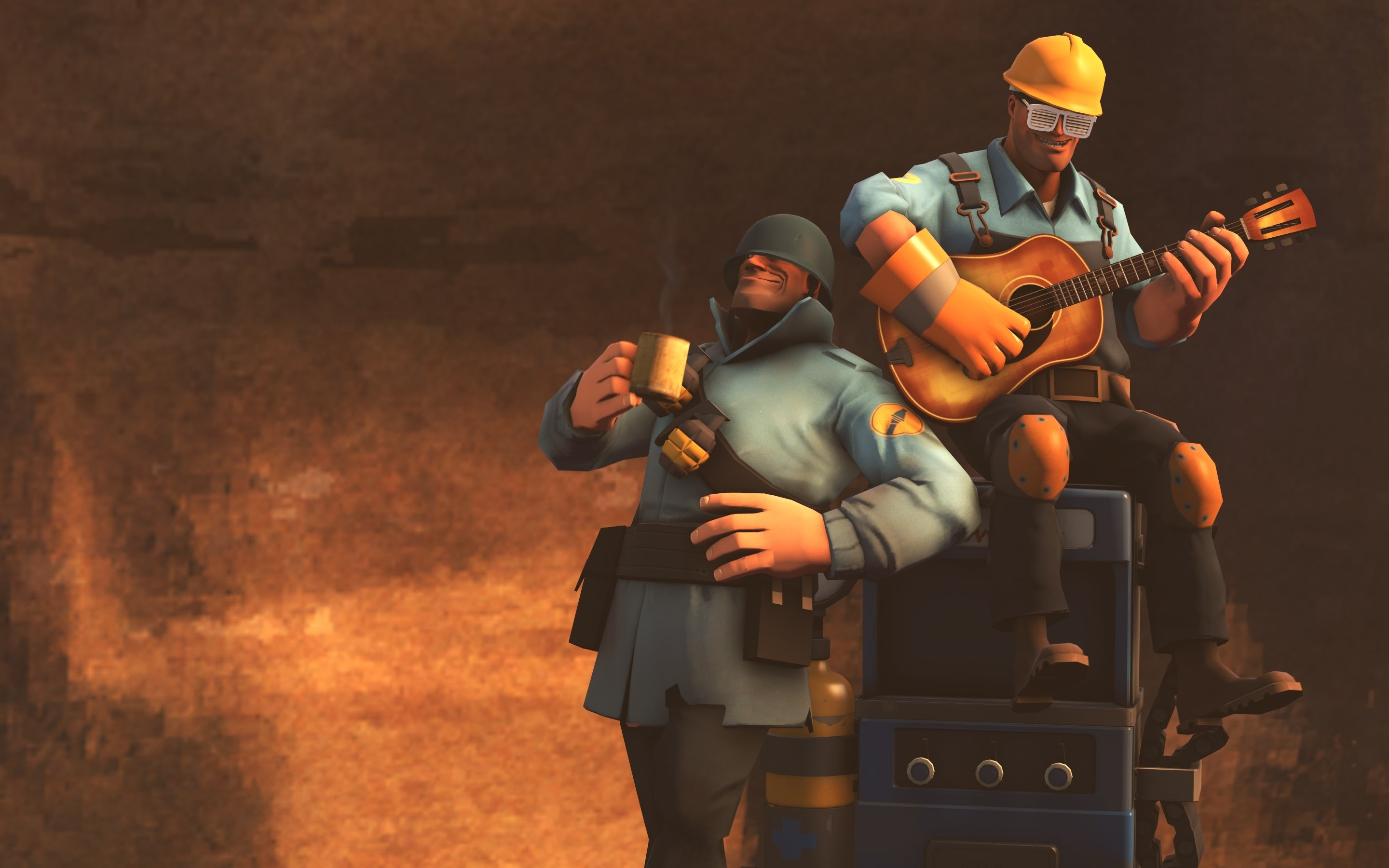 team fortress 2 wallpaper soldier and engie chill wallpapers