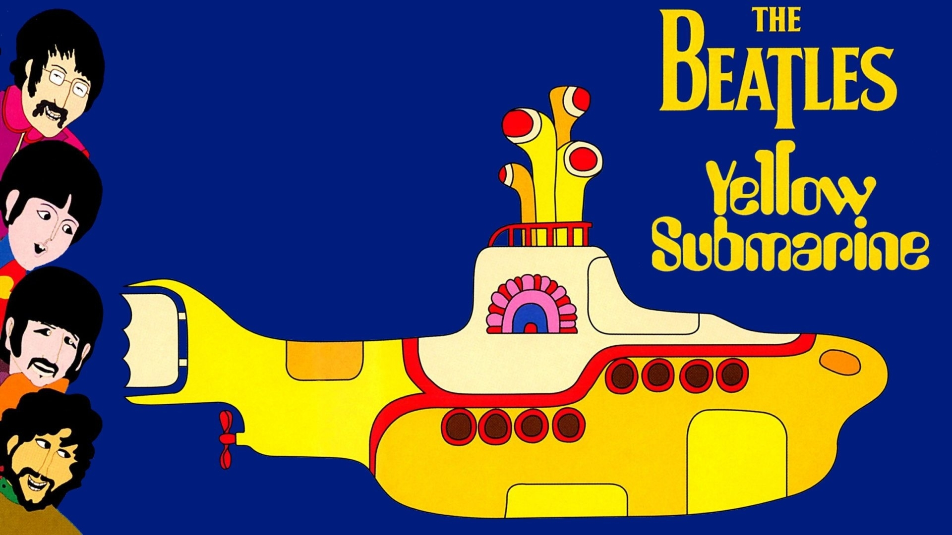 the beatles in yellow submarine full hd fond d'écran and arrière